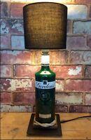 Gordons Gin Table Lamp Green Bottle Handmade Bedside Pub Cave Light Gordon's