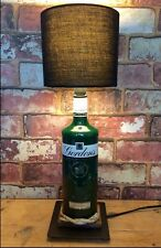 Gordons Gin Table Lamp Green Bottle Handmade Bedside Pub Cave Light Gordon's