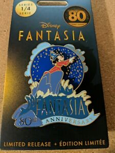 Disney Pin - DisneyStore - Sorcerer Mickey - Fantasia 80th Anniversary - LR