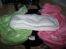 Wegreeco Washable Reusable Premium Dog Diapers, XXL FEMALE~ BL,GREEN, PINK, PADS