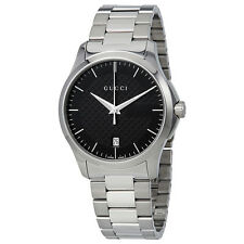 Gucci G-Timeless Black Dial Stainless Steel Unisex Watch YA126457