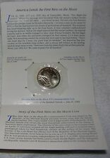 Collectible 1989 $5.00 Commemorative Coin, 1st Men on the Moon, Marshall Islands