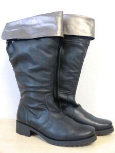 36-46 Overknee Stiefel Weitschaft Kalbsleder 10-11 cm Absatz Gr