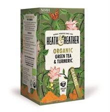 Heath et Heather thé vert biologique & Turmeric 20 sac (lot de 6)