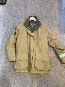 Tweed Wool Shooting Coat 12 Wind/ Waterproof Ladies ... Hidepark Quality