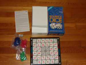1999 JAX SEQUENCE DICE GAME IN BOX IN EXCELLENT CONDITION
