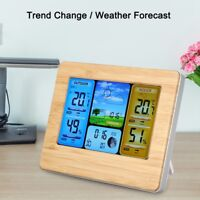 LCD Digital Indoor & Outdoor Wireless Weather Station Clock Calendar Thermometer