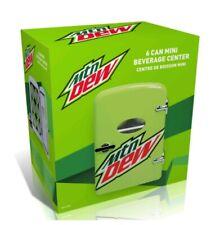 New Collectors Mtn Dew Portable 6 Can Mini Fridge