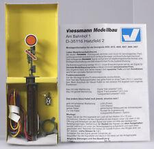 Viessmann H.O. #4510 Fixed Disk Distance Signal, New, Märklin A.C. & Other D.C.