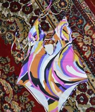 EMILIO PUCCI MONOKINI SWIM SUIT BEACHWEAR SZ-IT-44/US-10 NWT $550