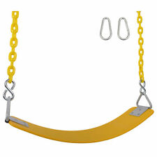 Swing Set Stuff Inc Commercial Polymer Seat 5.5 Ft Coated Chain (Yellow) 0316