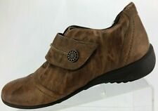 Munro American Loafers Monk Strap Brown Casual Comfort Flats USA Womens US 8.5 M