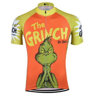 The Grinch Dr Seuss Orange Cycling Jersey