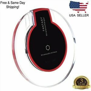Wireless Fast Charger Charging Pad Dock for iPhone Samsung Android Cell Phone