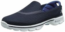 Skechers 13980 Go Walk 3 Navy White Womens Shoes Comfort SNEAKERS Casual 6.5