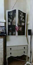 Antique Bureau Display Cabinet Cupboard writing desk shabby chic painted cabinet