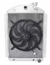 """2 Row DR Champion Radiator W/ 16"""" Fan for 1941 - 1946 Chevy Truck V8 Small Block"""