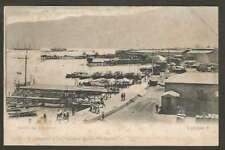 Chile Postcard Iquique Muelle De Pasajeros Port & Ships 1900 L@@K