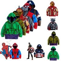 Marvel Superhero Sweatshirt Kids Boys Hoodies Sweater Jacket Coats Top Outwear