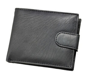 New Mens Real Leather Black Brown Wallet With Coin Pocket Pouch & ID Window LG2