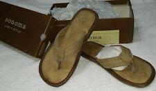 "Men's SONOMA Reeves ""VINTAGE"" Flip-Flop Thing Sandals (Tan) Size12"