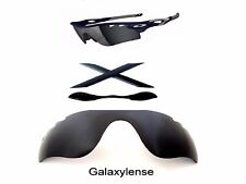 Galaxy Replacement Black Lenses + Rubber Kits For Oakley Radarlock Path Vented