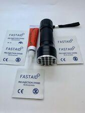 10ml Fest Klar Fliegenbinden UV Kleber in Tube, 21 LED UV Taschenlampe, Tücher