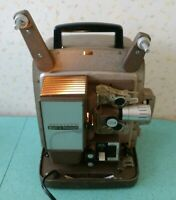 Vintage Bell and Howell Autoload Movie Projector 266A 8mm Powers On As Is