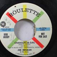 50'S & 60'S Promo 45 Joe Reisman & His Orchestra - Chanson De Gail / The Right G