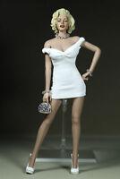 """1/6 Skala Marilyn Monroe kurzes weißes Kleid Mini Rock F 12"""" weibliche Figur"""