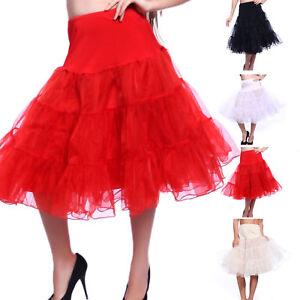 """27"""" Retro Underskirt 50s Swing Vintage Petticoat Rockabilly Tutu Fancy Net Skirt"""