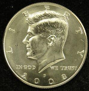 2008 D Satin Finish Uncirculated Kennedy Half Dollar BU (C01)