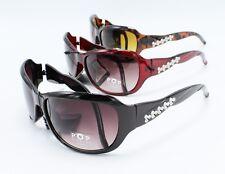 Wholesale 12 Pairs Designer Style Sunglasses in Assorted Colors #P1406-12