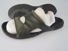 MERRELL Pesaro Black Leather Synthetic Slides Sandals Shoes Women's US Size 9