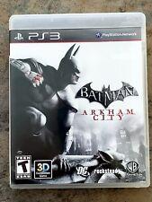 BATMAN Arkham City PS3 Game - Great condition - Original case & Paperwork