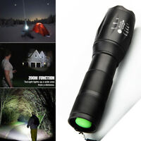 T6 Zoomable 10000Lumens XM-L Tactical Army LED 18650 Flashlight Torch Lamp ca