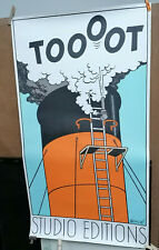 AFFICHE ANCIENNE ORIGINALE PUB TOOOT TINTIN HERGE STUDIO EDITIONS 1980 CASTERMAN