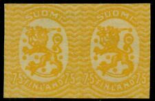 Finland #100 (103) 75p Lion, Imperforate Pair, without gum, Vf