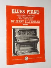 Jerry Silverman Blues Piano Vol 1. Piano/Voice/Guitar Chords For 12 Songs. 1983.