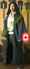Medieval Celtic Long Hooded Coat with Sleeves