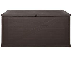 Kissenbox Wood Auflagenbox 420L Gartentruhe Kissentruhe Aufbewahrungsbox Kiste