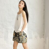 Lady Loose Linen Cotton Tank Tops Camisole Solid Spaghetti Strap Sleeveless Vest