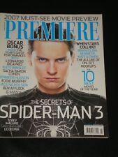 PREMIERE magazine 2007, Tobey Maguire, Spider-Man, Sacha Baron Cohen, OSCARS