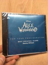 Disney Alice in Wonderland:Original Film Score Danny Elfman Promo New+Sealed OST