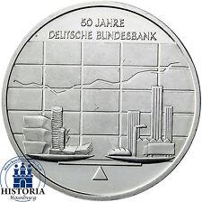 Deutschland 10 Euro Silber 2007 bfr 50 Jahre Deutsche Bundesbank in Münzkapsel