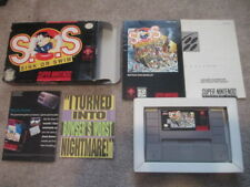 S.O.S. Sink or Swim (Super Nintendo SNES) Complete CIB - Very Nice!