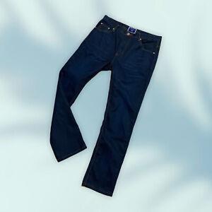 New Men's GARAGE JEANS size W33 L30 straight leg dark blue cotton acrylic NWOT