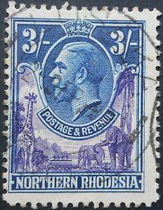 North Rhodesia 1929 GV Three Shillings SG 13 used