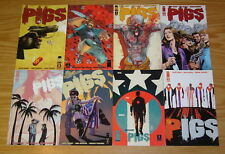 Pigs #1-8 VF/NM complete series - cold war/modern terrorism - cuba - nat cosby