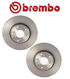 Pair Set of 2 Front Vented 282mm Disc Brake Rotors Brembo for Acura Honda Civic